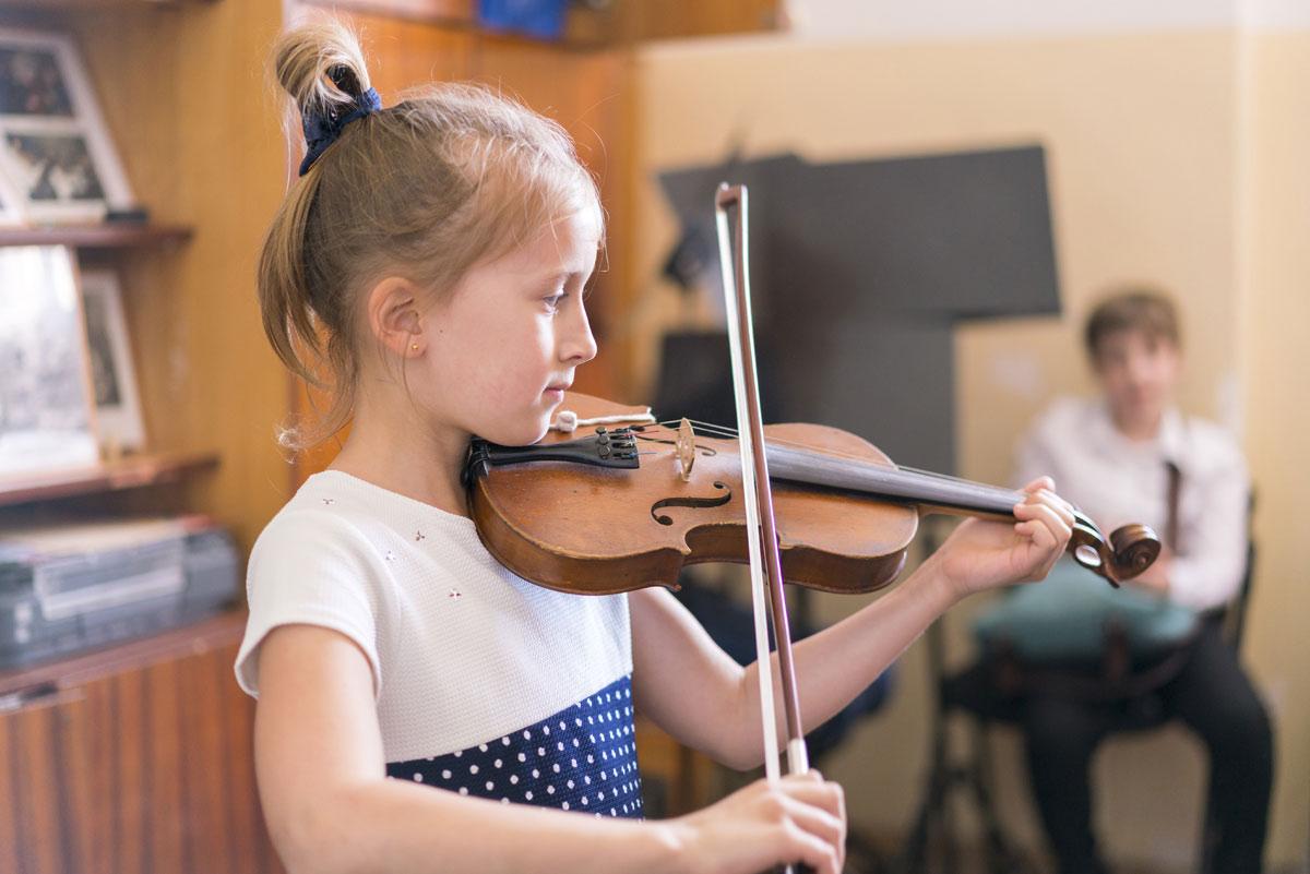 Violin en el colegio
